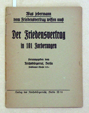 Der Friedensvertrag in 101 Forderungen