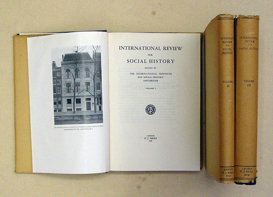International Review for Social History I - III (3 Bde.)